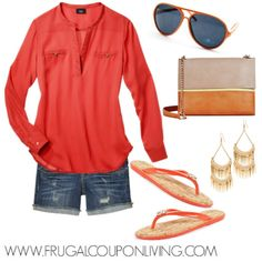 Frugal Fashion Friday Orange Summer Outfit – Polyvore Concept