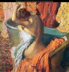 Seated Bather Drying Herself 1895 - Edgar Degas - WikiGallery.org, the largest gallery in the world