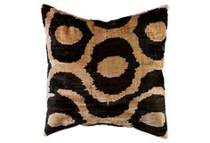 nuloom, silk velvet ikat pillow. lordy. I need this.