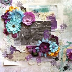 Bobunny designer Berni Miller created this gorgeous page featuring Bobunny stamps @bernii