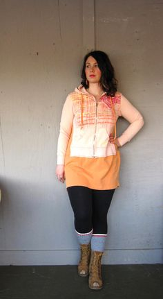 Funky Lagenlook tunic upcycled clothing by lillienoradrygoods, $72.50