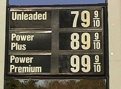 Cheap gas prices! I remember when I was 16 it would cost me 14.oo to fill up my Chevy Monza!