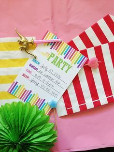 Free printable for DIY rainbow party invite only
