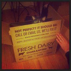 You call it FreshDirect.... but it seems rather furry. freshdirect box