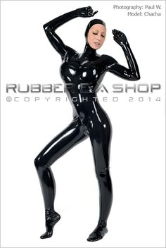 Open Faced Rubber Total Enclosure Catsuit - Rubber Catsuits - Rubber Eva Shop, This is a leotard line rubber total enclosure catsuit with breast cups. It has a attached open faced hood , gloves and feet. It has a 4 way through crotch back zip. Also available in a male fit.