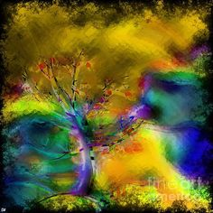 Tree Abstract - Bold Is Beautiful by Liane Wright