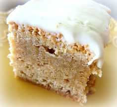 Recipe: {amazing} Snickerdoodle Bars with Cream Cheese Frosting