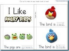 Angry Birds Kindergarten Printables - 1+1+1=1