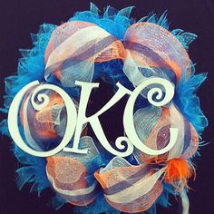 A Thunder wreath made completely out of Hobby Lobby products!