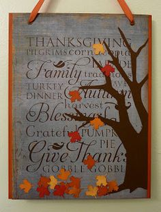 thanksgiving wall hanging cricut project