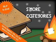 S'more Categorites Game. S'more activity from TheSpeechROomNews.com Great for camping themes and summer plans.