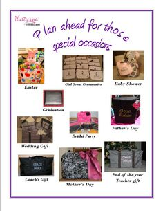Thirty~One gifts for all occasions!  *I did not make this flier although it was made available for use*