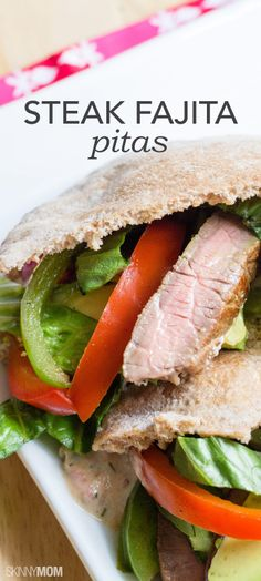 You have to try our steak fajita in pita bread for dinner tonight!