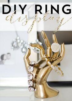 DIY gold ring display
