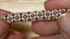 Tubular beadwork tutorial (Chenille Stitch): a simple idea for a tubular...