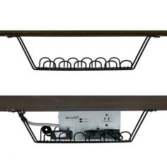 This Cable Corral is a pretty sweet way to keep your cords organized and off the floor around your desk area.