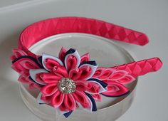 Gorgeous kanzashi headband! Love the color combination!