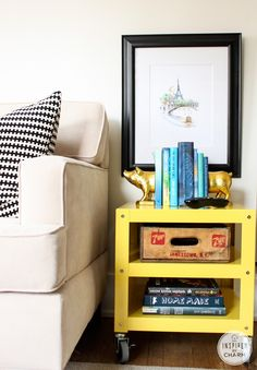 Style 2: End Table  @Michael Wurm, Jr. {inspiredbycharm.com}: Styling with CB2
