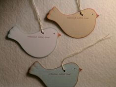 Personalized wish tree bird tags for baby shower