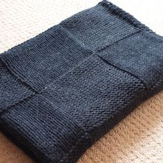 ~Free Knitting Pattern - Afghans & Blankets: Stylish Square Blanket~