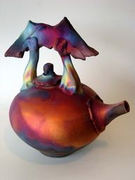 raku teapot. I have always wanted to learn how to do this.