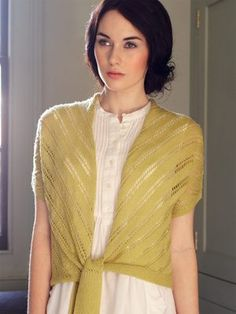 Beautiful #knit wrap designed by Debbie Bliss and inspired by the PBS show, Downton Abbey.