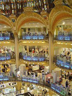 Shopping mall in Paris.