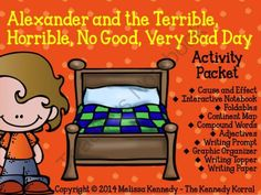 Alexander and the Terrible Day! Enter for your chance to win 1 of 4.  Alexander and the Terrible, Horrible, No Good, Very Bad Day - Activity Packet (22 pages) from The Kennedy Korral on TeachersNotebook.com (Ends on on 10-31-2014)  Alexander has a bad day.