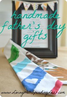 Easy Father's Day gifts for kids to make via www.LivingWellSpendingLess.com