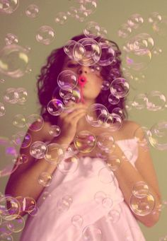 .blowing bubbles    Find joy in the simple things