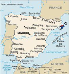 Spain - Map Of Spain