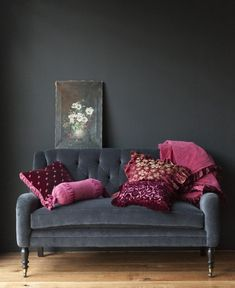 Grey with Pink