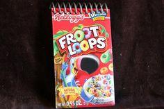 Cereal Box Spiral Bound Notebook / Journal by AVictorianRevolution, $4.00