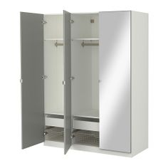 PAX Garderobekast met inrichting, wit, Vikedal spiegelglas IKEA FAMILY ...