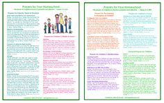 prayers for your family with printable pages