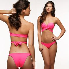 The Peixoto Bella Top is your best bet for convertible swimwear. This Peixoto Bikini can easily transform from a bandeau bikini to a halter top, bow, or even be crossed across your midsection for a luxurious look! This top clasps in the front, and is lined and lightly padded for an extra boost! Also available in Neon Pink. This bandeau Bikini Top pairs well with the Peixoto Swim Alda Bottom in Mandarin. #stringbikini #bikini #peixoto #peixotoswim app 238, top ipad, peixoto swimwear, ipad app
