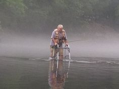 this dude really wants to fish