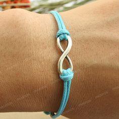 Braceletturquoise karma infinity bracelet boyfriend gift by mosnos, $4.99