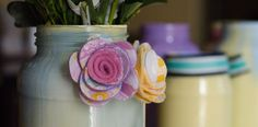 Painted Vases DIY via @SongsKateSang
