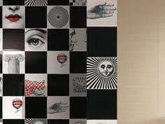 Ceramic #wall tiles FORNASETTIANE by @ceramica creativa tenerife Bardelli | #design Piero Fornasetti