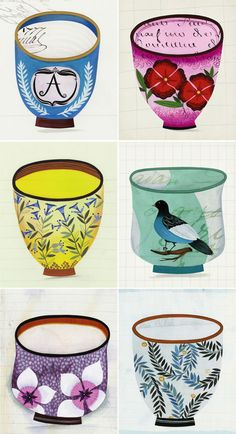Anne's Smith's illustrated cups series