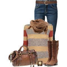 """""""Sweater, Boots and Jeans"""" by immacherry on Polyvore"""