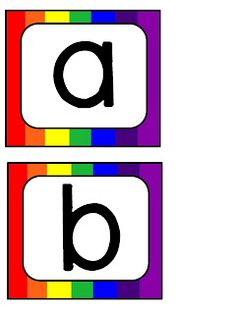 technology rocks. seriously.: rainbow letters