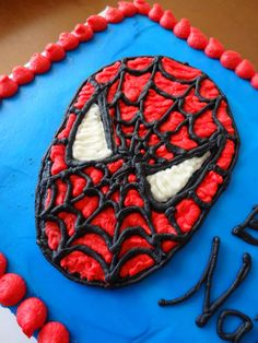 spiderman birthday, birthday cakes