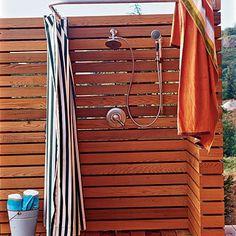 coastal living shower design, outside showers, backyard idea, pool, outdoor showers, beach hous, coastal living, shower idea, shower curtains