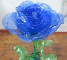plastic bottle waste Bao DIY roses handmade tutorial