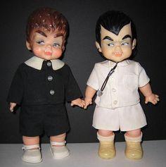 Baby Werewolf and Baby Dracula dolls, 1965, from Ideal Toys - sooooo cute! #vintage #Halloween #1960s #dolls