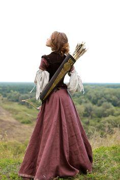 """Archeress"" Dress - medieval dress renaissance clothing"
