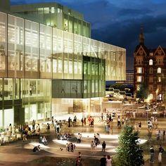 OMA-designed headquarters of Denmark's national centre for architecture in Copenhagen.