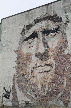 From Stavanger's street art Festival, Nuart Festival  - Vhils in Stavanger